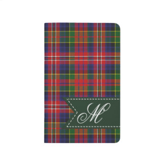 Monogrammed MacPherson Plaid Pocket Journal