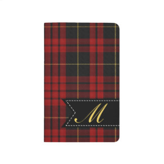 Monogrammed MacQueen Plaid Pocket Journal