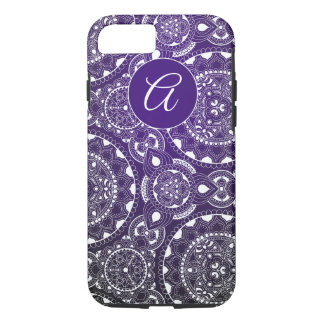 Monogrammed Mandala iPhone Case