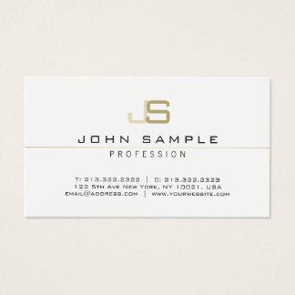 Monogrammed Modern Professional Elegant Simple Business Card
