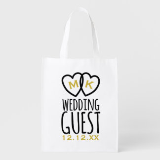 Monogrammed Modern Wedding Guest Gift Swag Bag