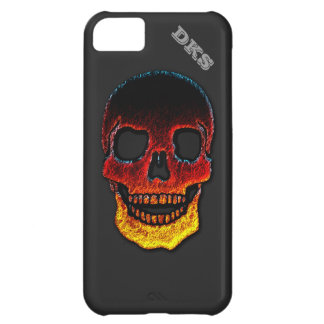 Monogrammed Molten Lava LOOK Skull iPhone 5C Case