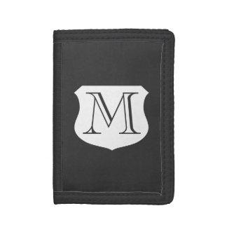 Monogrammed money wallets for men