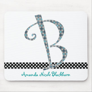 Monogrammed Mouse Pad - Letter B