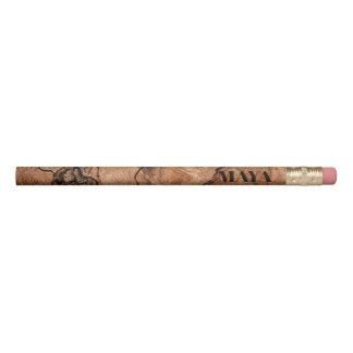 Monogrammed Natural Wooden Design Pencil