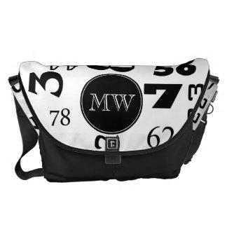 Monogrammed Number Design Courier Bag