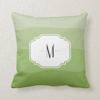 Monogrammed Ombre' Artichoke Pillow