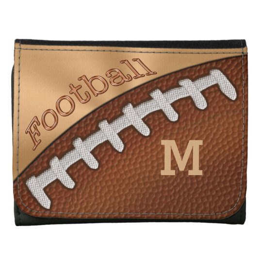 Monogrammed or Jersey Number Football Wallets