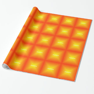 Monogrammed Orange Wrapping Paper