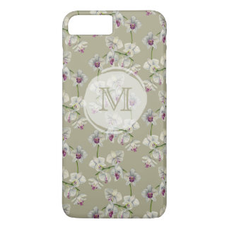 Monogrammed Orchid Watercolor Painting iPhone 8 Plus/7 Plus Case