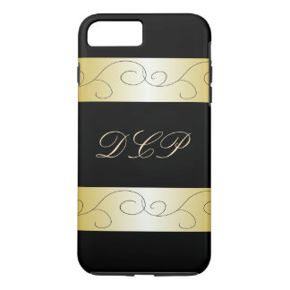 Monogrammed Ornate Black Gold Trendy CricketDiane iPhone 8 Plus/7 Plus Case