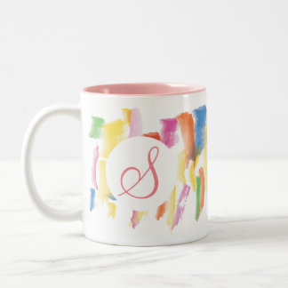 Monogrammed Paint Stained Mug