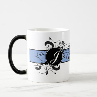 Monogrammed Personalized Fancy Flourish Magic Mug