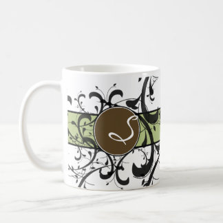 Monogrammed Personalized Victorian Flourish Coffee Mug
