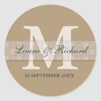 Monogrammed Personalized Wedding Favor Stickers