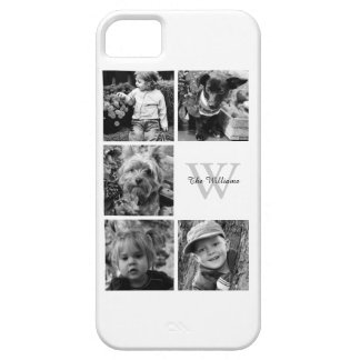 Monogrammed Photo Collage iPhone 5 Covers