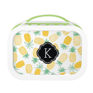 Monogrammed | Pineapples Lunch Box