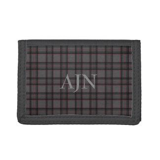 Monogrammed Plaid Wallet