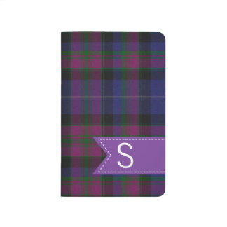 Monogrammed Pride of Scotland Plaid Pocket Journal