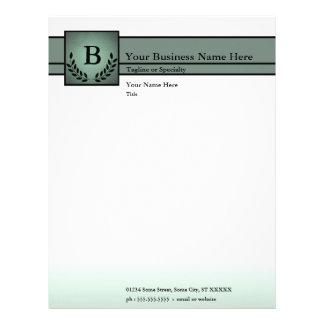 monogrammed professional customized letterhead