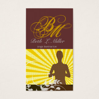 Monogrammed Professional Religious Business Card