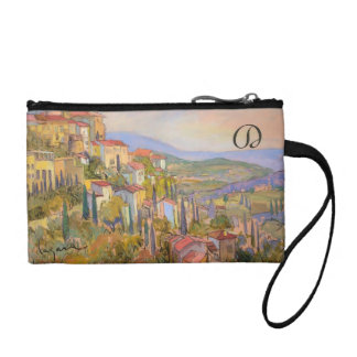 Monogrammed Provence Key Coin Clutch