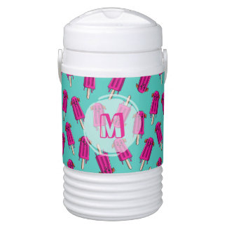 "Monogrammed ""Pupsicle"" Pattern Drinks Cooler"