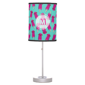 "Monogrammed ""Pupsicle"" Pattern Table Lamp"