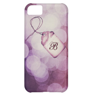 Monogrammed Purple Bokeh Design Case-Mate iPhone Case