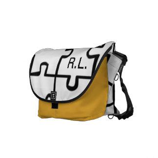 Monogrammed Puzzle Rickshaw Book Bag Messenger Bags