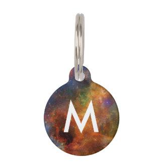 Monogrammed Rainbow Stars Galaxies Custom Pet Tags