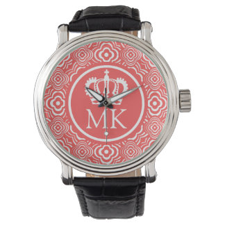 Monogrammed Red Peddler Big Boss Watch