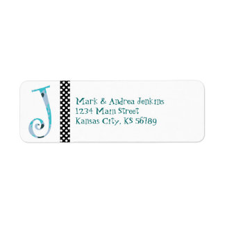 Monogrammed Return Address Label