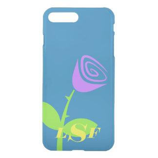 Monogrammed Rose Bud iPhone 8 Plus/7 Plus Case