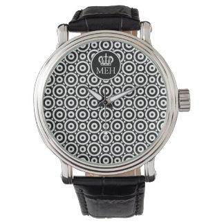 Monogrammed Royal Black Bubbler Watch