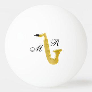 Monogrammed Saxophone Ping Pong Ball