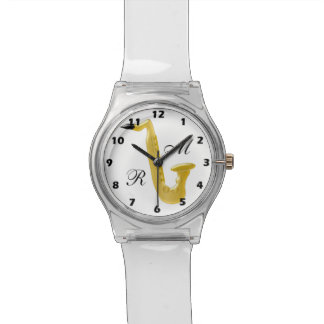 Monogrammed Saxophone Watch