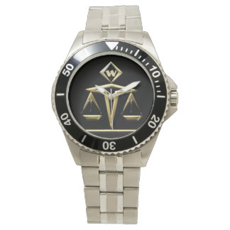 Monogrammed Scales of Justice (v1) Watch