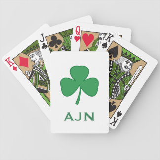 Monogrammed Shamrock Irish Playing Cards Gift