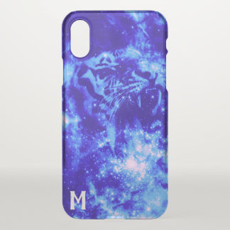 Monogrammed Space Tiger iPhone X Case