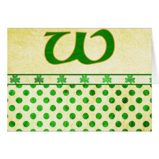 Monogrammed St Patrick s Day Irish Cards Postage