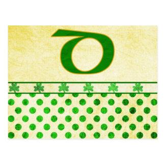 Monogrammed St Patrick s Day Irish Cards Postage Postcards