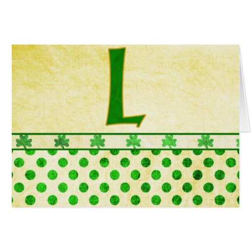 Monogrammed St. Patrick's Day Irish Cards, Postage