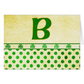 Monogrammed St. Patrick's Day Irish Cards, Postage