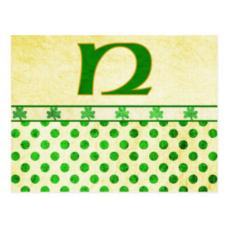 Monogrammed St. Patrick's Day Irish Cards, Postage Post Cards