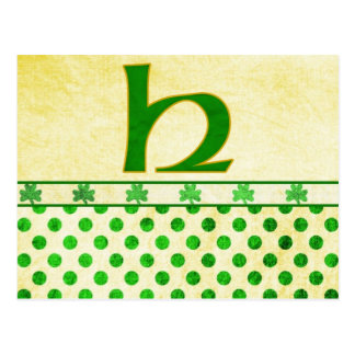 Monogrammed St. Patrick's Day Irish Cards, Postage Postcard