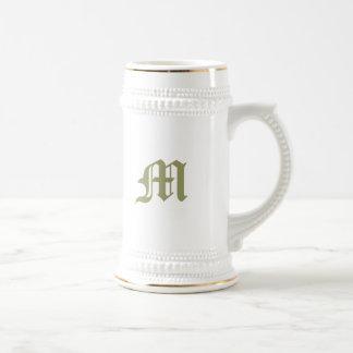 Monogrammed Stein Coffee Mug
