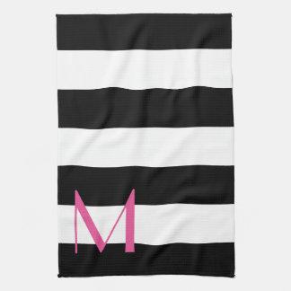 Monogrammed Striped Kitchen Towel