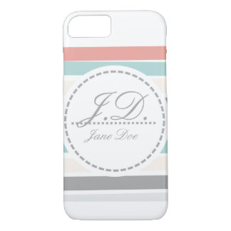 Monogrammed Stripes iPhone 8/7 Case