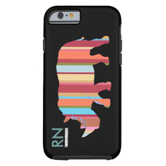 monogrammed stripes rhino tough iPhone 6 case